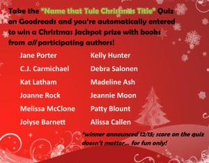 Tule Christmas quiz