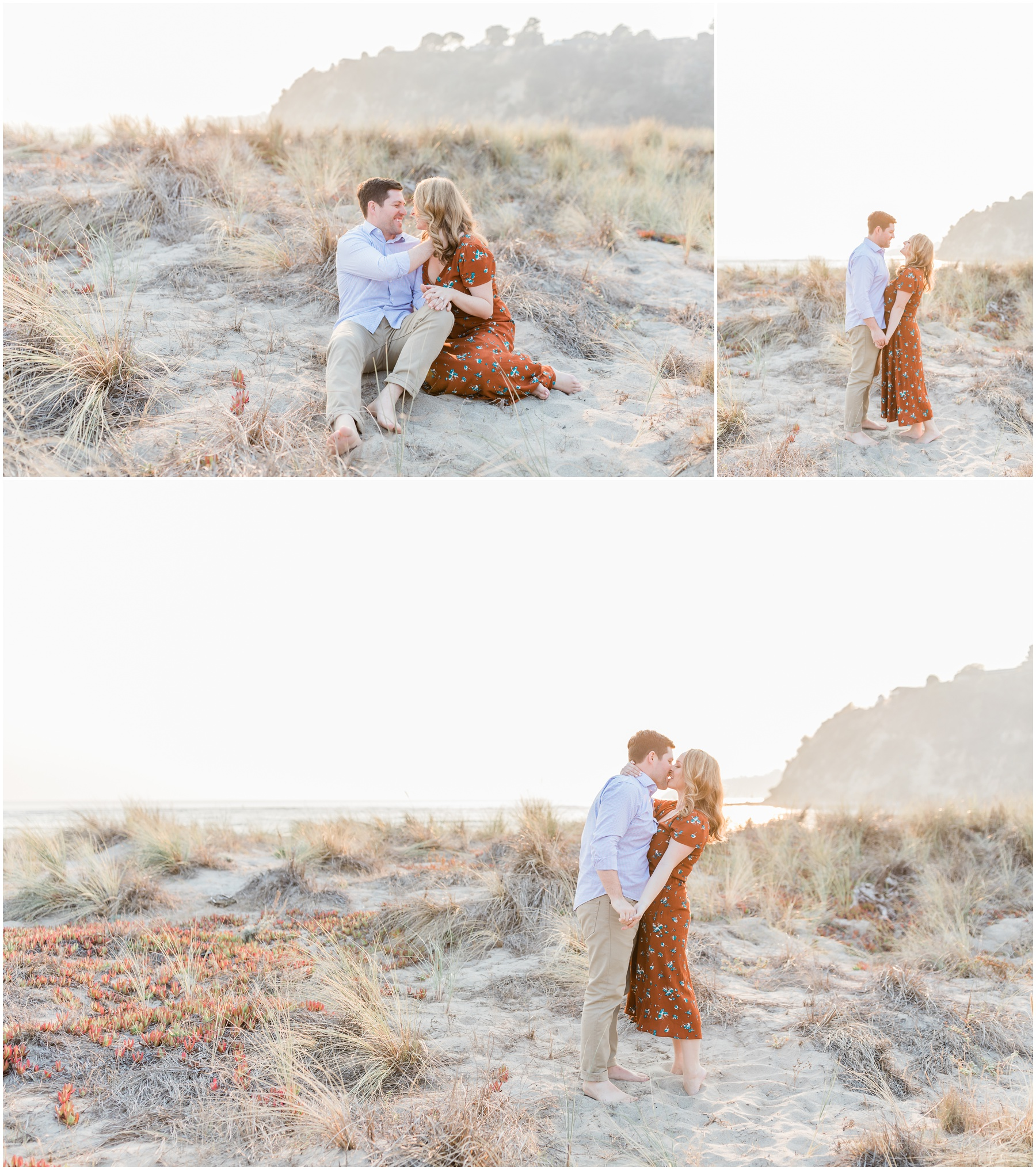 Sunset Beach Engagement Portrait Session by KCM Photography, a fine art portrait and wedding photographer serving Northern California and based in Lodi, CA