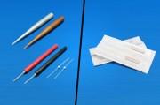 はりは刺すはりと刺さないはりの2種類があります。 症状や体質により使い分けています。 刺すはりは全て使い捨てです。