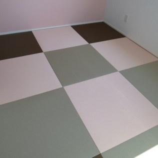カラフルな琉球畳