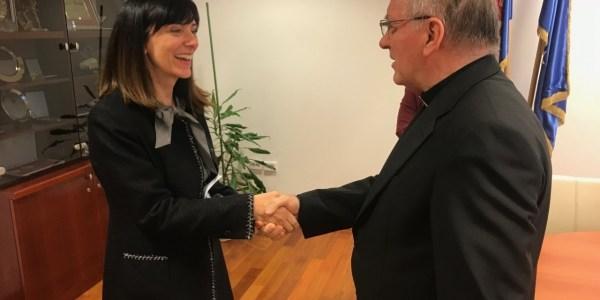 Susret biskupa Škvorčevića i ministrice Divjak