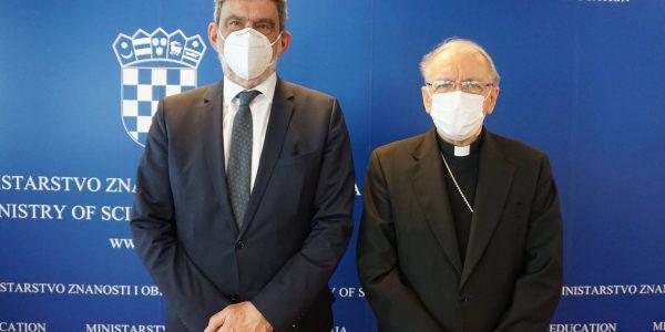 Susret biskupa Škvorčevića i ministra Fuchsa