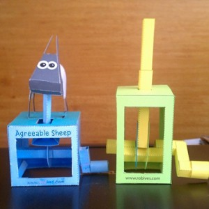 First 2 paper automata