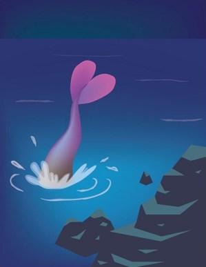 Illustrator Illustration. Page 16 of La Jolla's Mermaid.