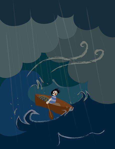 Illustrator Illustration. Page 5 of La Jolla's Mermaid.