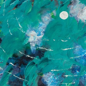 """A Drop in the Sky,"" an abstract acrylic painting by Katrina Allen. Visit katrinaallenart.com to see more and order prints."
