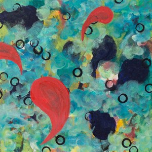 """Feathers Are Not Broken by Flying,"" an abstract acrylic painting by Katrina Allen. Visit katrinaallenart.com to see more and order prints."