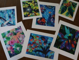 Classic Paper Prints of abstract acrylic paintings by Katrina Allen. Available for purchase at katrinaallenart.com.
