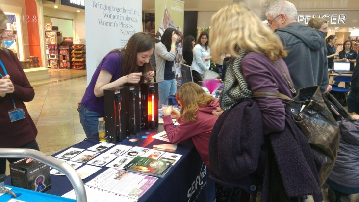 Women's Physics Network from the University of Southampton put on a fantastic interactive science display.