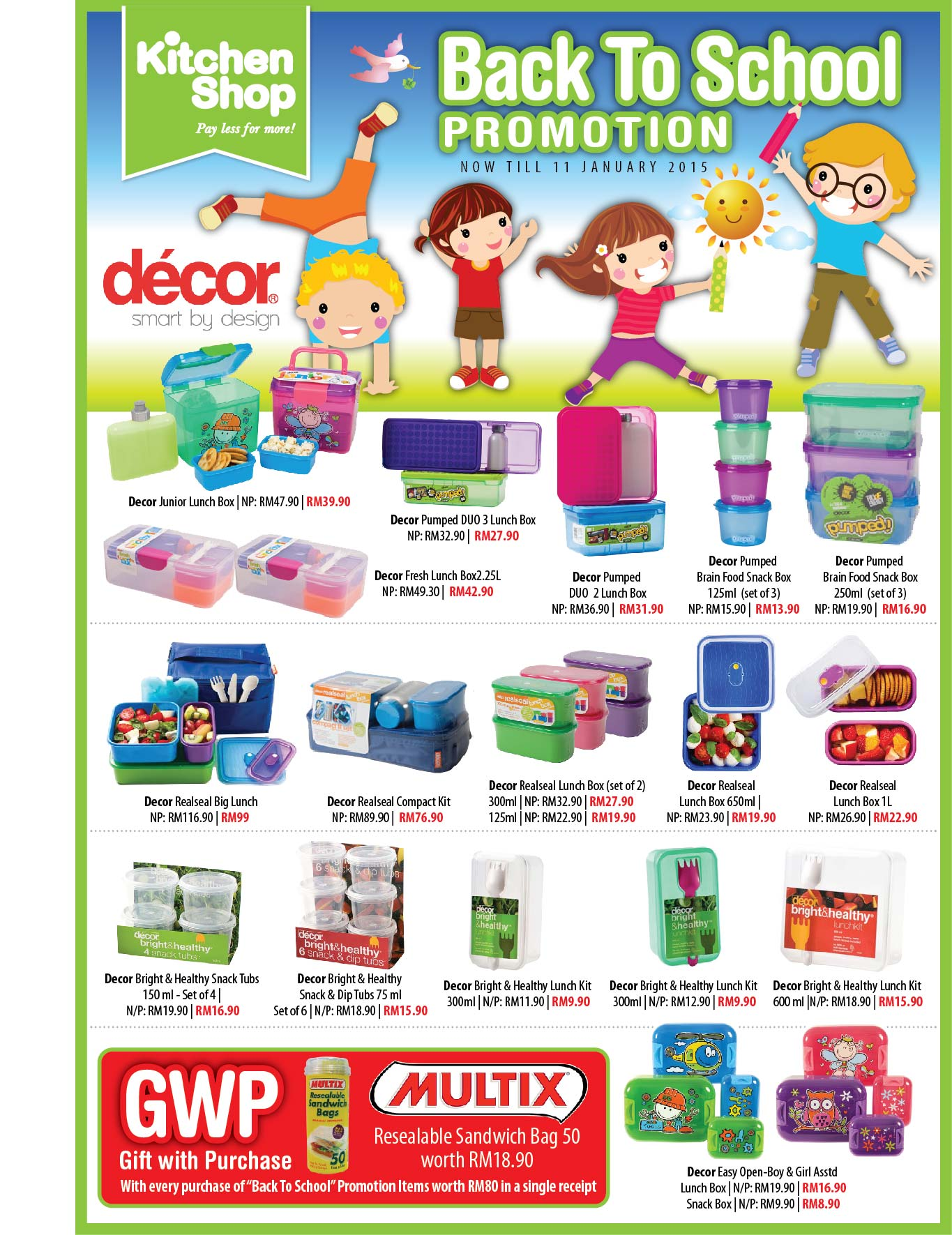 Kitchen Shop Back To School Promotion Now Till 11