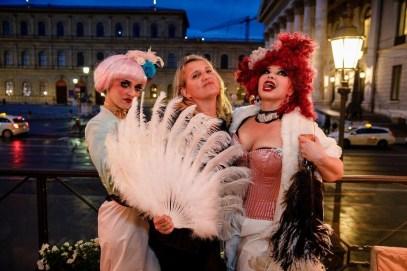 Bourlesque bei der Kuffler Suite Eröffnung