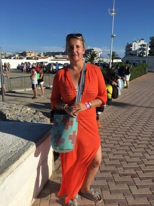 Am Hafen von Ibiza, warten auf die Fähre