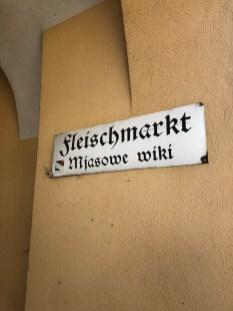 In Deutsch und sorbisch - Strassennamen