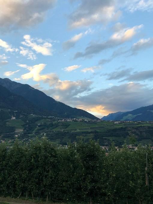 Sonnenuntergangsstimmung in Südtirol