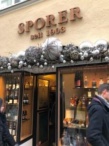 Sporer Spirituosen in er Getreidegasse in Salzburg