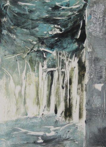 WOODLAND 8, 2015 Monotypie 18 x 13 cm