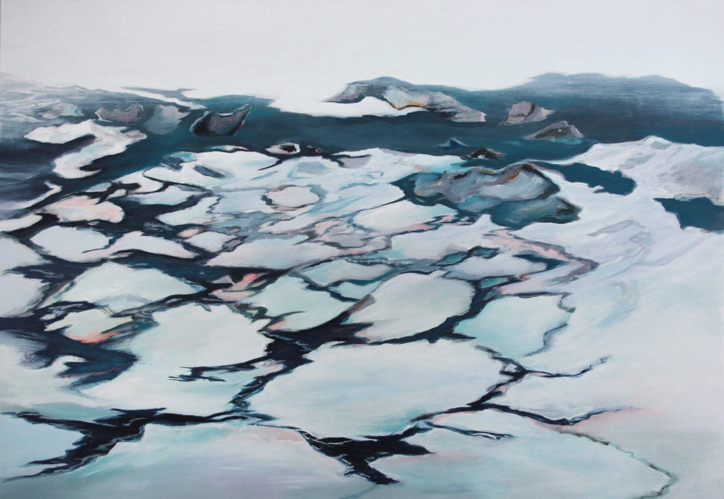 WATERLINES 1, oil on canvas 90 x 130 cm , 2012