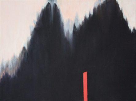 VERTIKAL 19, 2016 . Öl auf Leinwand 24 x 30 cm