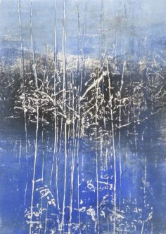 BLUE WOODS 4, 2016 Monoprint 21 x 15 cm