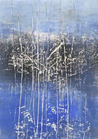 BLUE WOODS 4, 2016 Monoprint 21 x 15 cm