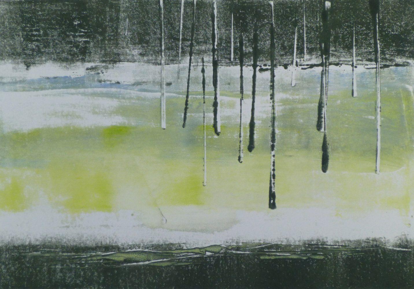 HAUNTED FOREST 5, 2016 Monotypie 21 x 30 cm