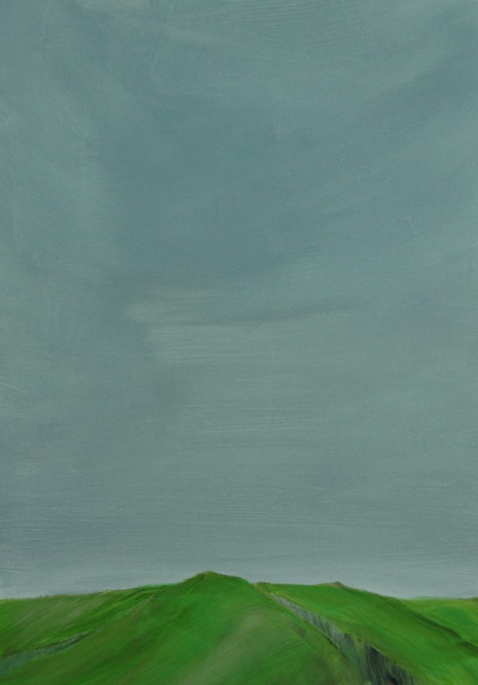GREEN EDGE, 2017 acryl on paper 32 x 22 cm