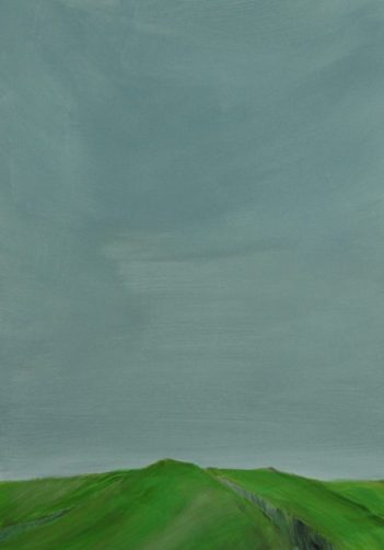 GREEN EDGE, 2017 acryl on paper 32 x 22 cm