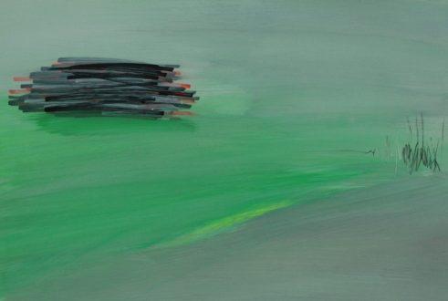 GREEN FIELD, 2017 acyrl on paper 33 x 48 cm