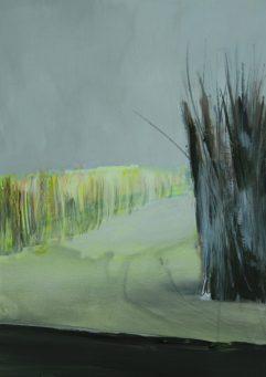 SURROUNDING, 2017 acryl on paper 33 x 23 cm