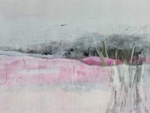 Nordic winter 1, Monotypie auf Bütten 40 x 50 cm
