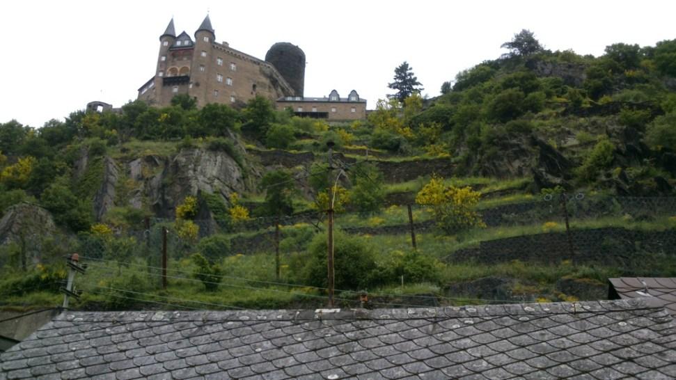 Burg Katz durchs Dachfenster