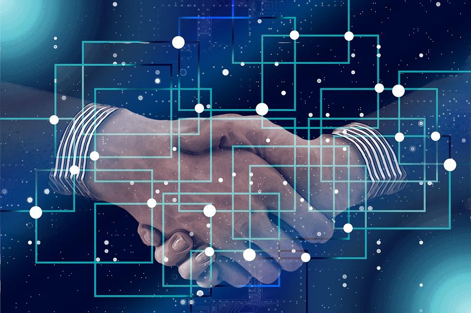 Shaking Hands Handshake Data Personal Block Chain