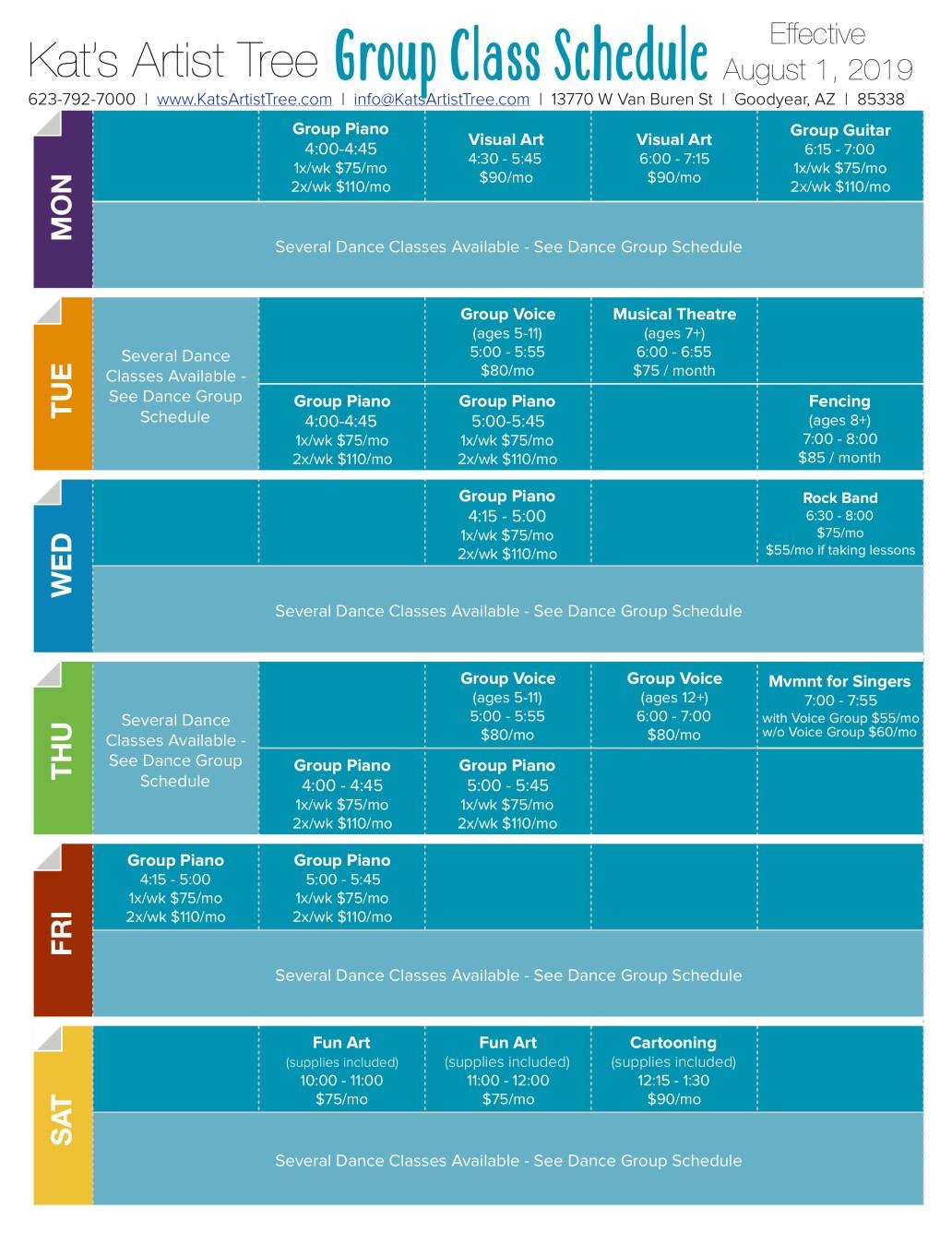 Class Schedule v11