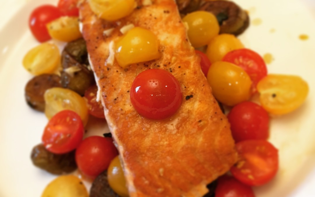 Roasted Salmon and Tomatoes
