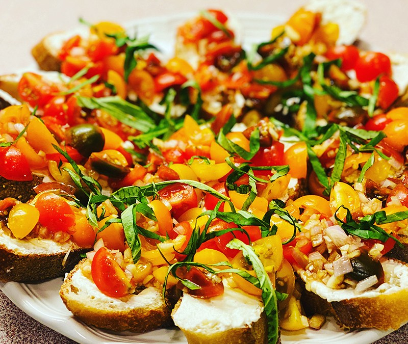 Tomato Crostini with Whipped Feta