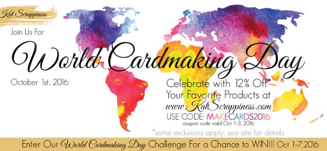 World Card Making Day 2016 at Kat Scrappiness