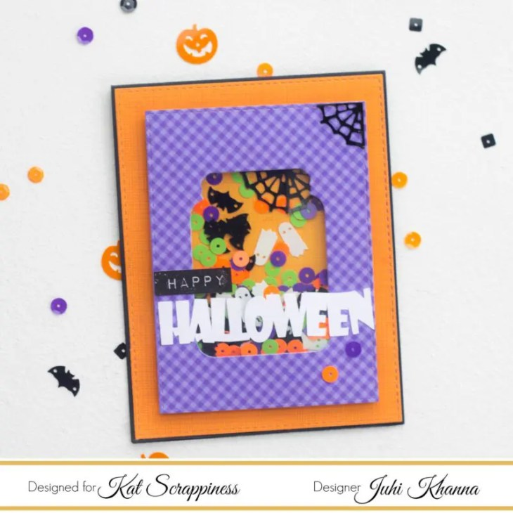 Halloween Jar Shaped Shaker Card