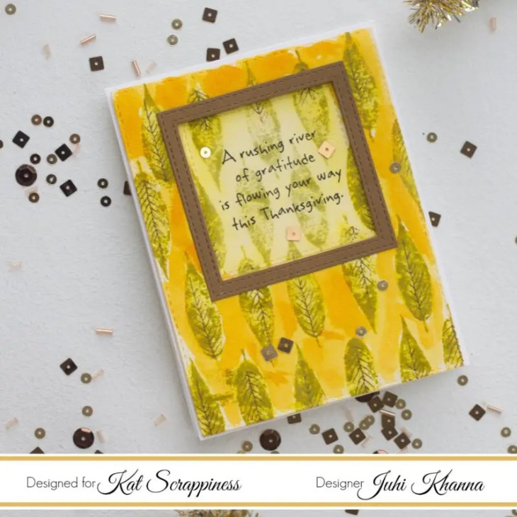 Watercolor Thanksgiving Card with Hero Arts stamps