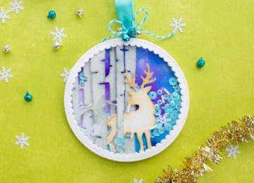 Christmas Tree Shaker Ornament