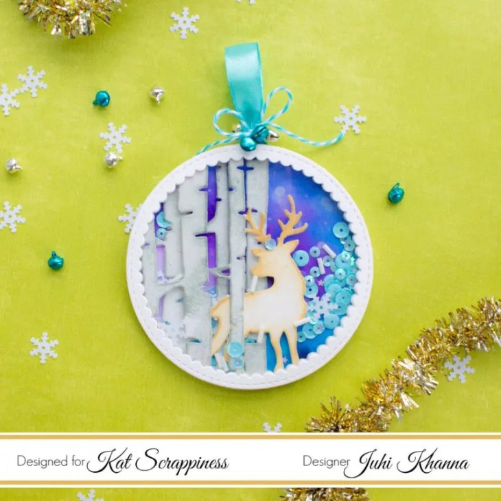Christmas Tree Shaker Ornament