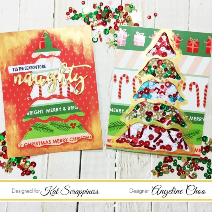naughty christmas stamp set | Kat Scrappiness Blog