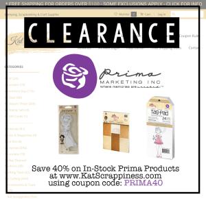 prima clearance sale
