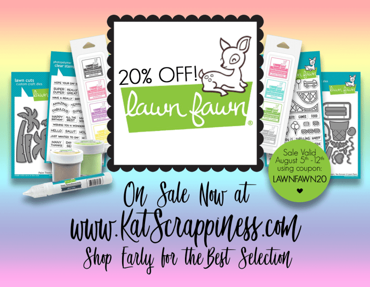 Lawn Fawn Sale at Kat Scrappiness