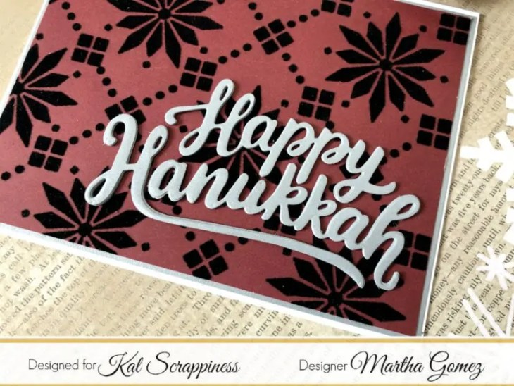 Ornament Strip and Happy Hanukkah Dies