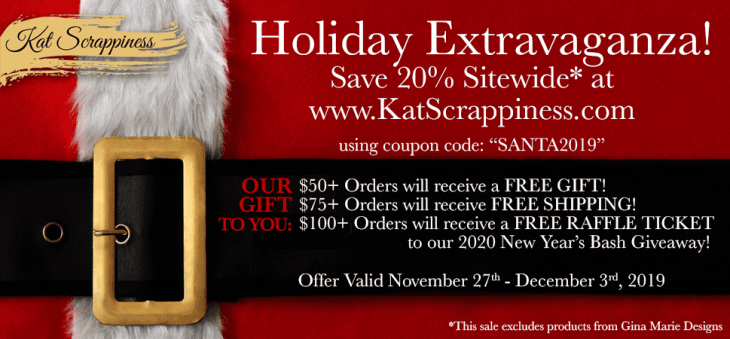 Black Friday Sale at Kat Scrappiness.com
