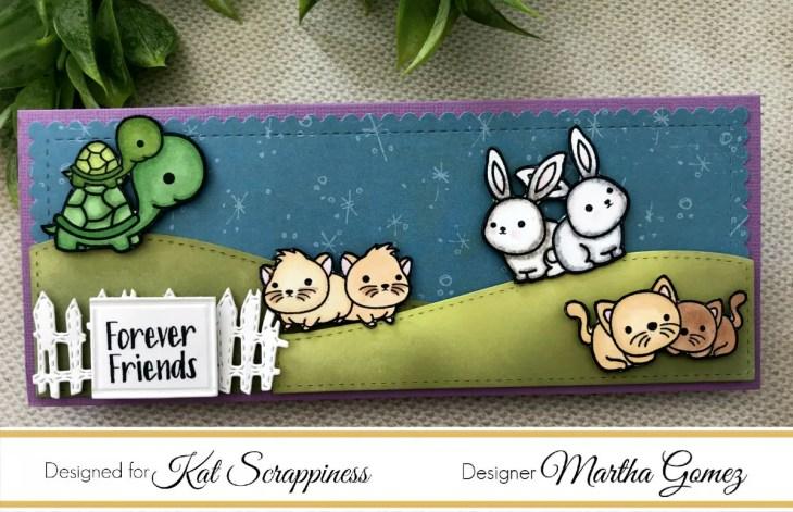 Slimline Card with Best Buds