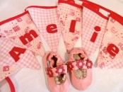baby girl bunting and shoes