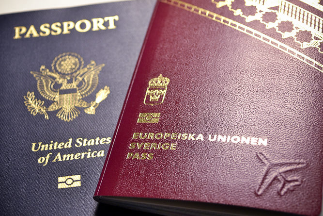 American and Swedish passports