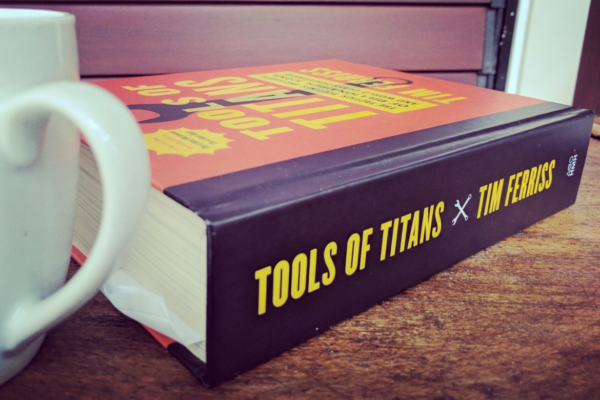 "outside cover of the book ""Tools of Titans"""