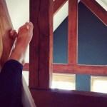 feet resting in a hammock